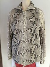 Authentic TRUSSARDI 100% real python jacket, Size 42,  in mint condition