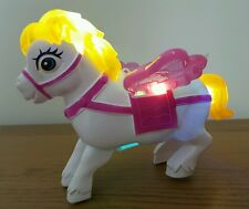 PONY BUMP AND GO WALKING HORSE FLASHING LIGHTS GIRLS BOYS TOYS
