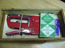 Vintage Swingline Heavy Duty Tacker Stapler #800 W/ Storage Box & Belt Holster