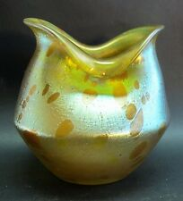 Superb LOETZ ASTRAEA Iridized Art Nouveau Glass Vase  c. 1900  Documented Piece