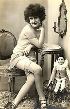A4 Vintage 1920 art déco joli jeunes filles nues.. beautés victorienne / edwardian 215