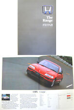 Honda Civic CRX Ballade Integra Accord Prelude Legend Motorshow 1988 UK Brochure
