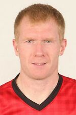 Football Photo PAUL SCHOLES Man Utd 2012-2013