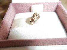 Genuine Authentic Pandora 14ct Gold Leaves Spacer Charm 750241 585 ALE - RARE