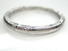 11/ V1/2  GIBEON IRON NICKEL METEORITE 2mm THIN BAND RING 2g