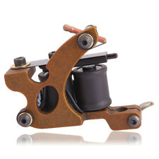 Professional 10-Coil Casting Shader Tattoo Machine Gun Reddish Brown XHJ004C