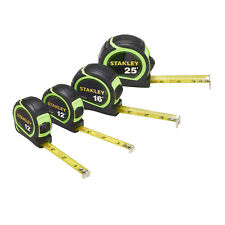 Stanley SAE Locking Tape Measure Set - 25ft  16ft  (2)12ft - STHT74201