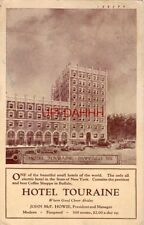 HOTEL TOURAINE, BUFFALO NY The only all electric hotel in State of New York 1924