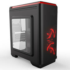 Cit Lightspeed micro atx midi tower USB3 fenêtré pc gaming case rouge led fans