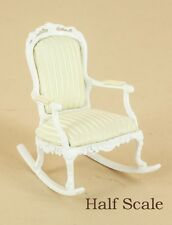 "Bespaq Dollhouse Miniature  1/2"" SCALE  ""SWEET WREATH"" ROCKING CHAIR  S-1648-W"