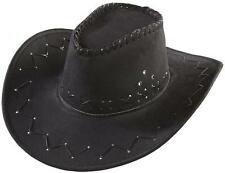 CAPPELLO COWBOY NERO texano camperos feste party AFFARE scamosciato MODA