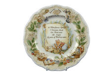 "BRAMBLY HEDGE ELDERFLOWER WINE RECIPE 8"" WALL PLATE ROYAL DOULTON 1ST QUALITY"
