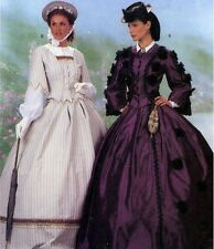 GONE WITH THE WIND CIVIL WAR VICTORIAN COSTUMES SEWING PATTERN OOP 12-14-16