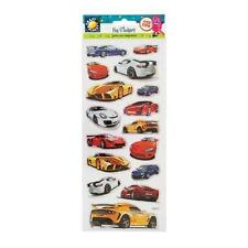 "CRAFT PLANET FUN FOILED STICKERS "" CARS "" FOR CARDS & CRAFT"