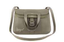 Mint HERMES Halzan Tote/Clutch/Crossbody/Shoulder Bag Etain Gray Clemence/PH