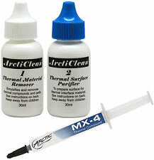 Arctic Cooling MX-4 Thermal Compound 4g Tube & ArctiClean (ACN-60ML) Artic Paste