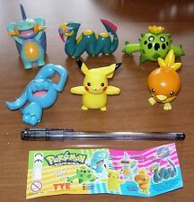 SET 6 Figure POKEMON ADVANCED Tomy ORIGINALI Pikachu Torchic Seviper FIGURES