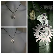 Hot Supernatural Dean Anti-Possession Symbol Pentagram Silver Pendant Necklace
