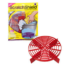 Scratch Shield Grit Guard Adjustable Universal Wash Bucket Water Filter RED