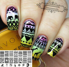Ongle Nail Art Stamping Template Image Aztec plaque BORN PRETTY BP-L010