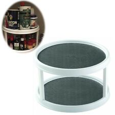 Kitchen Cabinet Organizer 2 Tier Turntable Pantry Non Skid Surface Lazy Susan