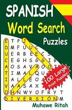 SPANISH Word Search Puzzles by Muhawe Ritah (2014, Paperback, Large Type)