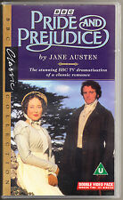 PRIDE AND PREJUDICE - BBC - 1995 - COLIN FIRTH - DOUBLE VHS PAL (UK) VIDEO SET