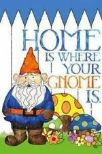 #09 HOME IS WHERE YOUR GNOME IS LARGE HOUSE FLAG 29X43 BANNER SUMMER 2 SIDED
