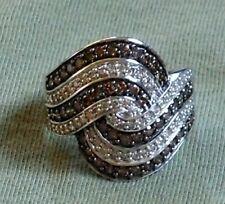 breiter Ring Klunker Weißgold 2.00 Carat Brillant Diamant 585 gold Größe 57 + 63