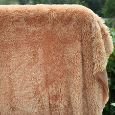 Camel PV plush velvet fabric, faux fur fabric. Photography backdrops, BTY