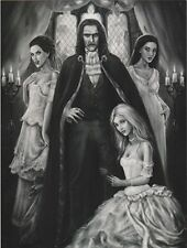 """Halloween-""Dracula & his 3 Lady Assistants/Companions"" 'Postcard' (#164)"