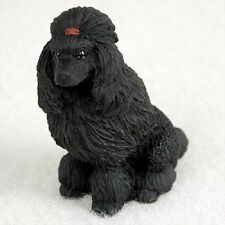 POODLE Black Dog TiNY FIGURINE Resin MINIATURE Mini COLLECTIBLE Statue show cut
