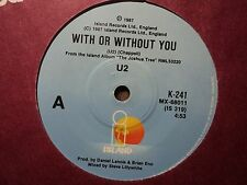 "U2 ""With Or Without You"" Classic Hit Oz 7"""