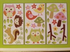 CIRCO WALL DECALS STICKERS LOVE AND NATURE 3 SHEETS DECALS NEW PINK GIRLS OWLS