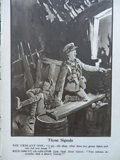 1917 BRUCE BAIRNSFATHER CARTOON - THOSE SIGNALS; HIS CHRISTMAS GOOSE WWI WW1
