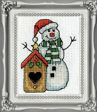 Cross Stitch Kit Design Works Christmas Birdhouse Picture w/Frame & Mat #DW515