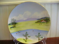 Vintage WAKO China Japan Hand Painted Porcelain Summer Scene Accent Plate