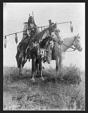 "1908 Crow Indians, Montana 17""x13"" PHOTO, Native American, Southwest PAINT HORSE"