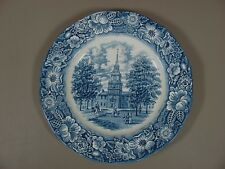 Staffordshire China LIBERTY BLUE Dinner Plate(s) Multiple Available EXCELLENT