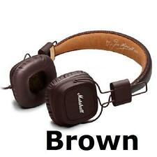 Brand New Black or Brown Marshall Major On-Ear Headphones with Remote Mic