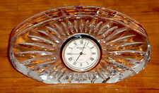 WATERFORD CRYSRAL SHERIDAN PATTERN L DESK QUARTZ CLOCK NEW