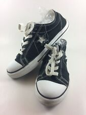 Converse One Star Women's 4 M Black White Low Top Basketball Canvas Laces