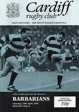 Apr 92 CARDIFF v BARBARIANS