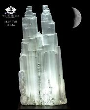 "14.2"" XL Selenite Double Tower Crystal Lamp SDT-916-18 (Exact Lamp + Free Gift)"