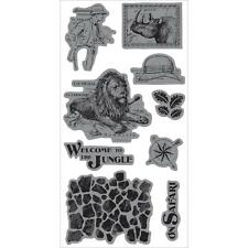 Graphic 45 Safari Adventure Cling Rubber Stamp Set #3 - Welcome to the Jungle