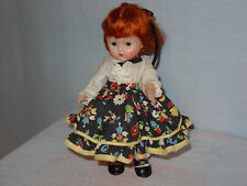 Ginny1952 Kitty Square Dancer, #50, vivid cheeks, redhead, dk br painted lashes