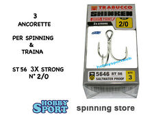 ANCORETTE OWNER TRABUCCO 5646  SERIE ST 56  N  2/0   INOX  CONF 3 PZ 3X STRONG