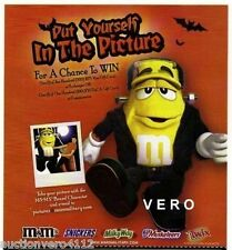 2011 magazine ad M&M's HALLOWEEN FRANKENSTEIN mms M&M yellow print advert