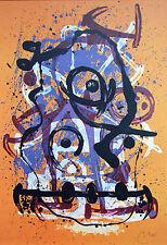 """Joan Miró vintage impresión litografía montado, 1972, 14 X 11"""", indeleble Miro 2M148"""
