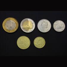 [M-2] Morocco Set 6 Coins,10+20+50 Santimes +1+5+10 Dirham, 2011, UNC